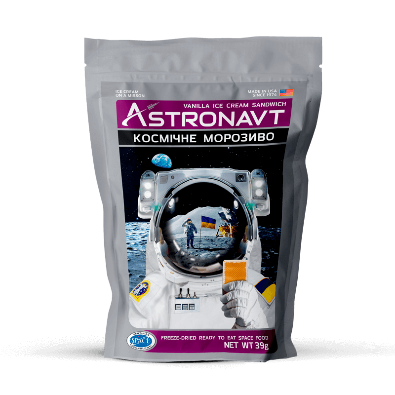 Space ice cream. Real astronaut food.