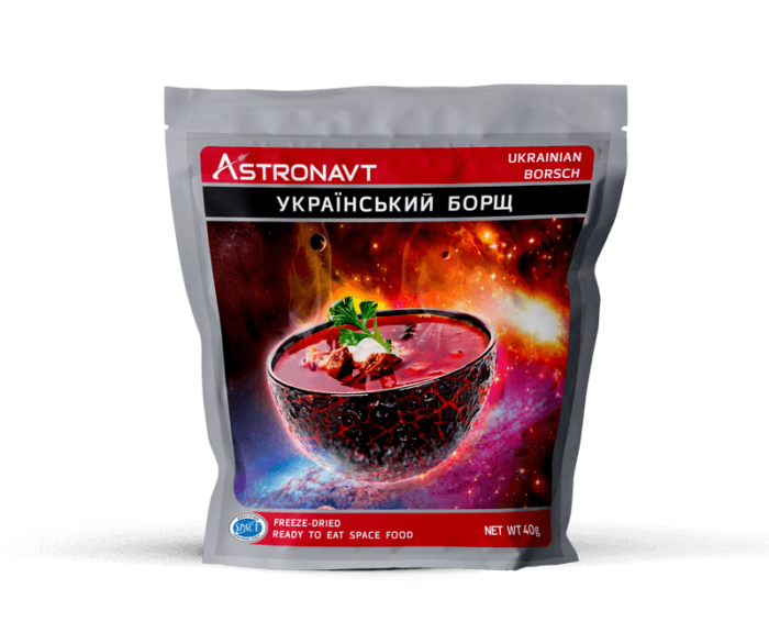 Freeze-dried Ukrainian borscht